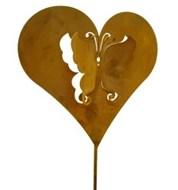 Edelrost  Herz Herzen auch mit Loch zum hängen verschiedene Grössen