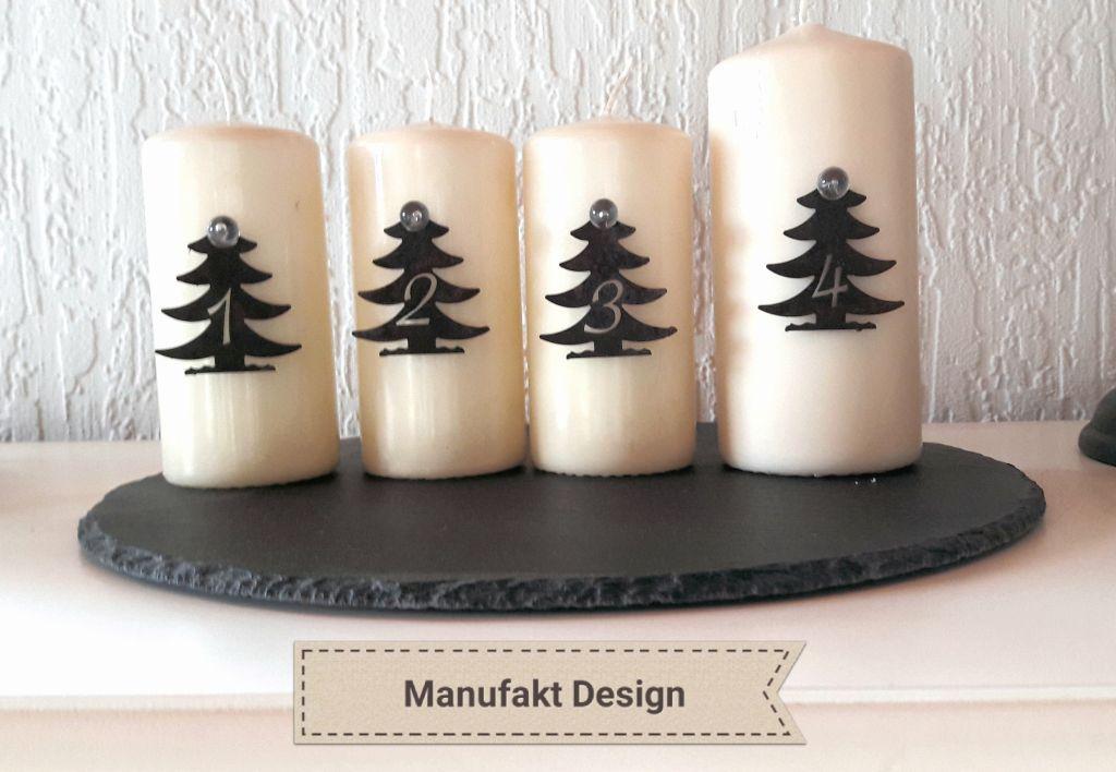 Dekoration kerzen advent mit motiv baum edelrost - Dekoration advent ...