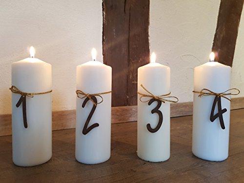 Kerzen Dekoration.Dekoration Kerzen Advent Zahlen 1 4 Edelrost Rost Deko